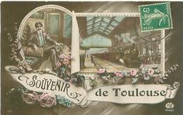 Souvenir De Toulouse , Gare Avec Train        J1023 - Toulouse