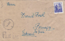 Yugoslavia Registered Cover Lovran 1950 - Brieven En Documenten