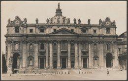 St Peter's Basilica, Vatican City, C.1920s - RP Postcard - Vatican