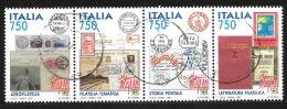 Italie 1997 -  Les 4 Valeurs Du Bloc Feuillet N° Mi  B16, Oblitéré, Minded - Histoire De La Philatélie -  Timbre/timbre, - 1991-00: Usati