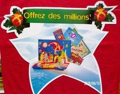 FDJ FRANÇAISE DES JEUX PUBLICITÉ BANDEROLE NEUVE 5 MOBILES 37X30cm GRATTAGE JEUX - NOTRE SITE Serbon - Publicités