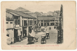 Kuala Lumpur Chinese Street The Supreme Court In The Back  Edit Lambert - Malaysia