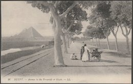 Avenue To The Pyramids Of Gizeh, C.1910 - Lévy Postcard LL26 - Gizeh