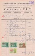 1949: Factuur Van ## Gustaaf PUT, Brusselsche Stw., 214, Mechelen ##  Aan ## Firma GULDERS & VAN VAECK, T/S ## - Transporte