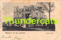 CPA SOUVENIR DE LA LOUVIERE CHATEAU BOCH NELS SERIE 4 NO  6 - La Louvière