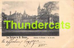 CPA LES ENVIRONS DE ST GHISLAIN CHATEAU DE BOUSSU VU DU COTE - Saint-Ghislain