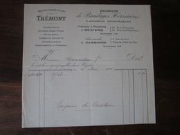 Ancienne Facture En-tête 1914 - Trémont - Fabrique De Bandages Herniaires - Béziers - Francia