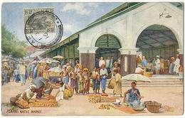 Penang Native Market  Malay Stamp No Postcard Back Tuck ? - Malaysia