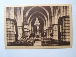 40## POUILLON: Intérieur De L'église Et Château Du Bourg                  2 CPA - France