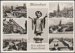Die Schöne Isar-Stadt, München, Bayern, 1957 - Lengauer Foto AK - Muenchen