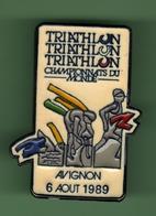 TRIATHLON *** CHAMPIONNATS DU MONDE - AVIGNON 1989 *** 0028 - Athletics