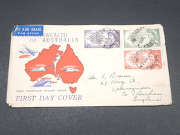 AUSTRALIE - Enveloppe FDC En 1953 Coronation De La Reine Elisabeth - L 19046 - 1952-65 Elizabeth II : Pre-Decimals