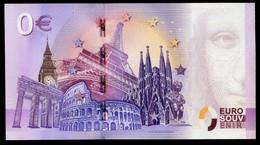 """Billet Euro Souvenir Filigrané Avec Fil De Sécurité Et Anti-fraude """" SEAQUARIUM Du Grau Du Roi """" UNC - EURO"""