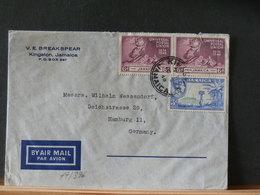 77/396  LETTRE  JAMAICA  POUR GERMANY  1949 - Jamaica (...-1961)