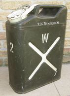 """Jerrycan US """"Water""""-Marquage D'Unité """"326th Airborne Medical Company"""" WW2 - 1939-45"""