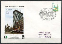 """Germany 1993 Privatganzsache Tag Der Briefmarke Mi.Nr.PPU?? Mit SST""""Berlin 12-Tag Der Briefmarke,Europa Ist Eins""""1 Beleg - Dag Van De Postzegel"""