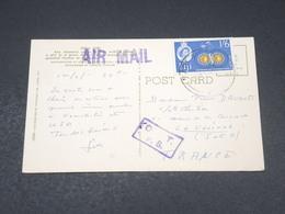 FIDJI - Affranchissement Des Fidji Sur Carte Postale Pour La France - L 19065 - Fiji (...-1970)