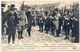 1914 Paris à L'école Militaire ..Général GALLIENI * Belle Cpa Animée (texte Aussi En Français° - Scoutisme
