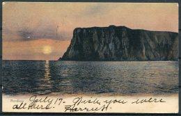 1905 Norway Nordkap Postcard. Trondheim / Nordkap - Quincy USA (stamp Removed) - Briefe U. Dokumente