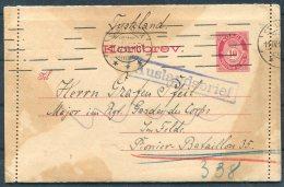 1918 Norway Kortbrev, Lettercard Stationery. Stavanger - Major, Pionier Bataillon 35, Military, Army 'AUSLANDSBRIEF' - Norway