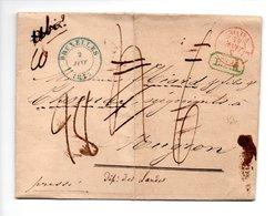 LETTRE . DE BRUXELLES BELGIQUE À MUGRON LANDES . 02 JANVIER 1844 . MENTION DÉBOURSÉ MOUSGRON - Réf. N°9840 - - Disbursement