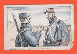 ET/185 PLANCHE 2 PILE OU FACE MON VIEUX ...BOCHES  Pub Ricqlès Au Dos De La Carte Militaire Soldat 14 / 18 Guerre Humour - Guerre 1914-18