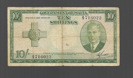 Billet Ten Shillings - Malte