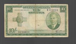 Billet Ten Shillings - Malta