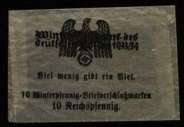 WW II DR Pergamin Tütchen Für WHW Verschlussmarken 1933 - 1934 - Deutschland