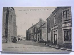 72 - EPINEU LE CHEVREUIL - RUE PRINCIPALE - CAFE DU COMMERCE CARTIER - CHAUSSURES - France