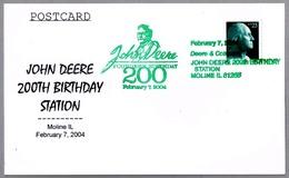 200 Aniv. Nacimiento JOHN DEERE. Moline IL 2004 - Agricultura