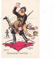 CPA Caricature Satirique François Joseph AUTRICHE Russe Punition Fessée Illustrateur Jean D' AURIAN - Other Illustrators