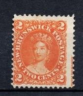 Canada New Brunswick 2 Cent Orange With ( American Bank (Note .co New York) Marginal Inscription. Unused No Gum - New Brunswick