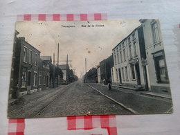 Trazegnies Rue Gouy Courcelles Souvret Rare Carte Photo Commerce Voir état - Courcelles