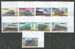 MONGOLIA - MNH - Transport - Trains - Imperf. - Eisenbahnen
