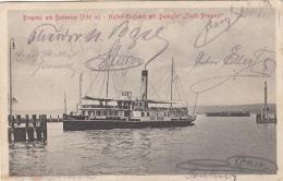 """BREGENZ Am Bodensee - Hafen Einfahrt Mit Dampfer """"Stadt Bregenz"""" - Alpenlandreise D.Wiener Schubertbundes, Gel.1923 ... - Bregenz"""