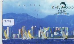 Télécarte HAWAII Sur JAPON - HAWAII Related (239)   Telefonkarte Phonecard Japan -  Sailing - Paysages