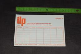 Buvard Horaire De Cour Imprimerie Liègeoise Poncelet Orange 15 Cm X 10 Cm - Stationeries (flat Articles)