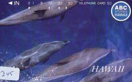 Télécarte HAWAII Sur JAPON - HAWAII Related (245)   Telefonkarte Phonecard Japan - - Paysages