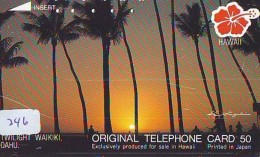 Télécarte HAWAII Sur JAPON - HAWAII Related (246)   Telefonkarte Phonecard Japan - - Paysages
