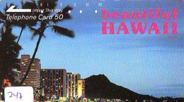 Télécarte HAWAII Sur JAPON - HAWAII Related (247)   Telefonkarte Phonecard Japan -  110-25452 - Paysages