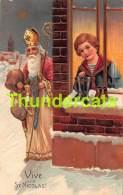 CPA EN RELIEF GAUFREE SINTERKLAAS SAINT NICOLAS EMBOSSED CARD SAINT NICOLSON SANTA CLAUS FATHER CHRISTMAS PFB - Saint-Nicolas