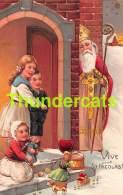 CPA EN RELIEF GAUFREE SINTERKLAAS SAINT NICOLAS EMBOSSED CARD SAINT NICOLSON SANTA CLAUS FATHER CHRISTMAS PFB - Nikolaus