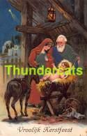 CPA EN RELIEF GAUFREE NOEL JESUS EMBOSSED CHRISTMAS CARD SOLK SOIE PFB - Jésus