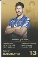 Sport  Handball   Nis   Paris Nikola KARABATIC - Frankreich