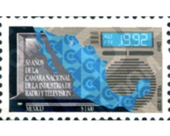 Ref. 248608 * MNH * - MEXICO. 1992. 50th ANNIVERSARY OF RADIO AND TELEVISION INDUSTRY  . 50 ANIVERSARIO DE LA FUNDACIÓN - Telecom
