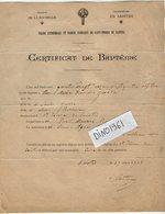 VP12.245 - LA ROCHELLE X SAINTES 1903 - Généalogie - Certificat De Baptême De Anne Marie Françoise QUERE - Naissance & Baptême