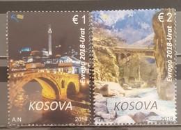 Kosovo,  2018, Europa Stamps - Bridges (MNH) - Kosovo
