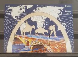 Kosovo,  2018, Europa Stamps - Bridges, Block  (MNH) - Kosovo