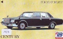 Télécarte JAPON * TOYOTA (1417)  * Phonecard JAPAN * VOITURE * Auto CAR * TELEFONKARTE * - Cars